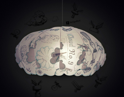 Vertigo Bird greeting card/lamp shade
