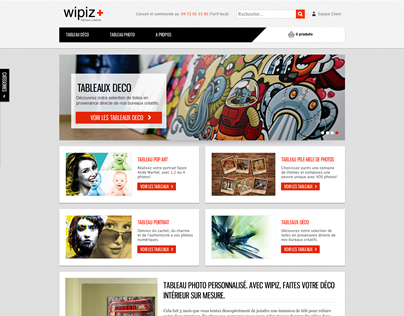 Wipiz.com - webdesign of a wall canvas e-commerce store