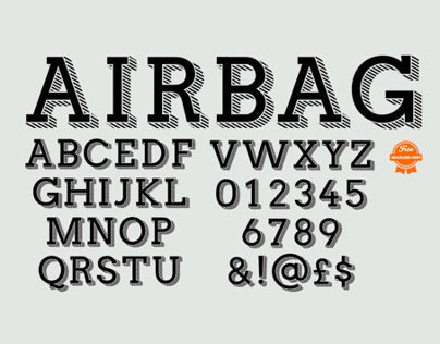 Airbag Typeface and Free Font by Simon Stratford