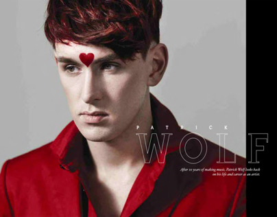 Voodoo Magazine cover with Patrick Wolf