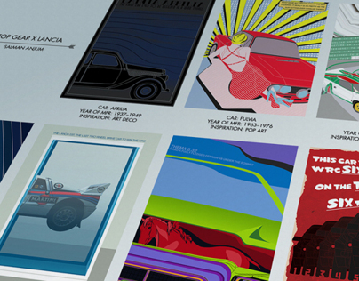 Lancia x Top Gear Poster Series