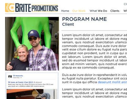 Brite Promotions Web Site