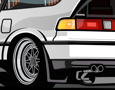 The Drivers 4th illustration Honda CrX JDM