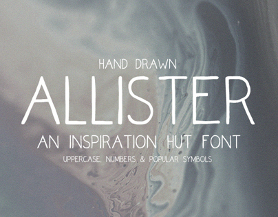 Allister - Hand Drawn Font - Download Available