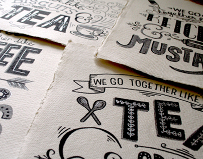 Typographical Series: 'We go together like.. '