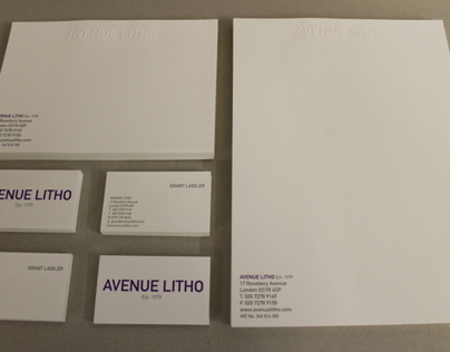 Avenue Litho Stationery Set