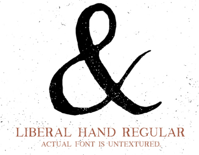 Liberal Hand - Hand Drawn Font - Download Available
