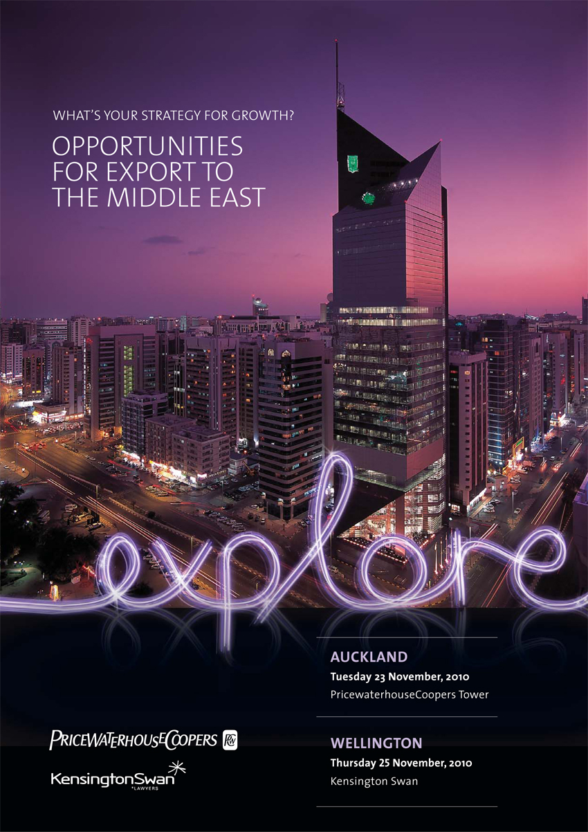 Explore - Business in the Middle East seminar invite