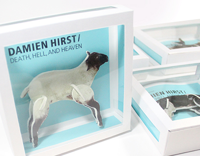 Damien Hirst - Exhibition invitations and webpages
