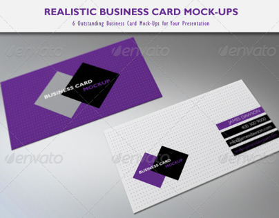 Realistic Business Card Mock-Ups