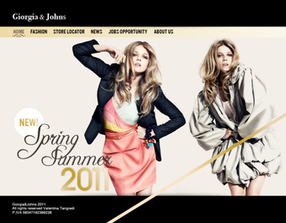 Giorgia&Johns // Website