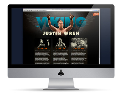 "JUSTIN ""THE VIKING"" WREN – BRAND IDENTITY"