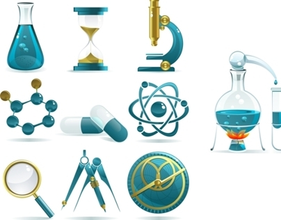 Science Icons for Vectortuts.com