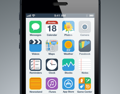 iPhone Flat UI Concept