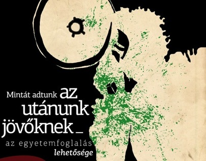 posters of the university occupation in Hungary