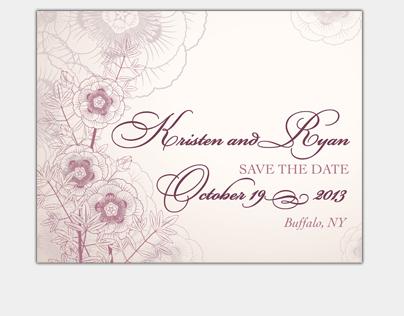 Kristen & Ryan, Save the Date Magnet