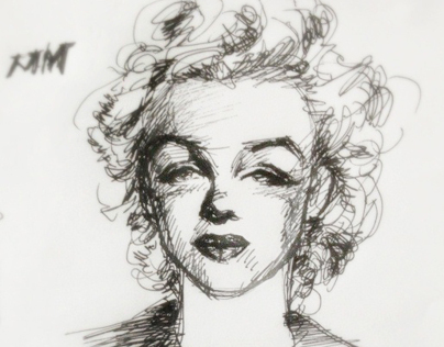 sketch of  Marilyn