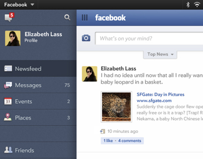 Facebook for HP Touchpad
