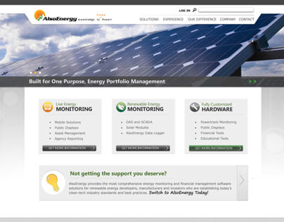 AlsoEnergy Website Design