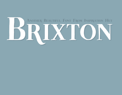 Brixton Font - Hand Drawn - Download Available