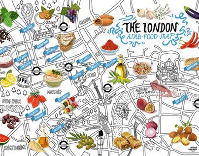 The London Arab food map