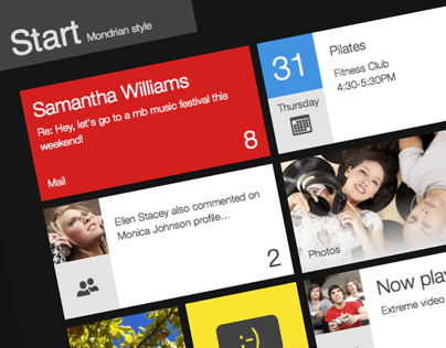 Mondrian colors for Windows 8