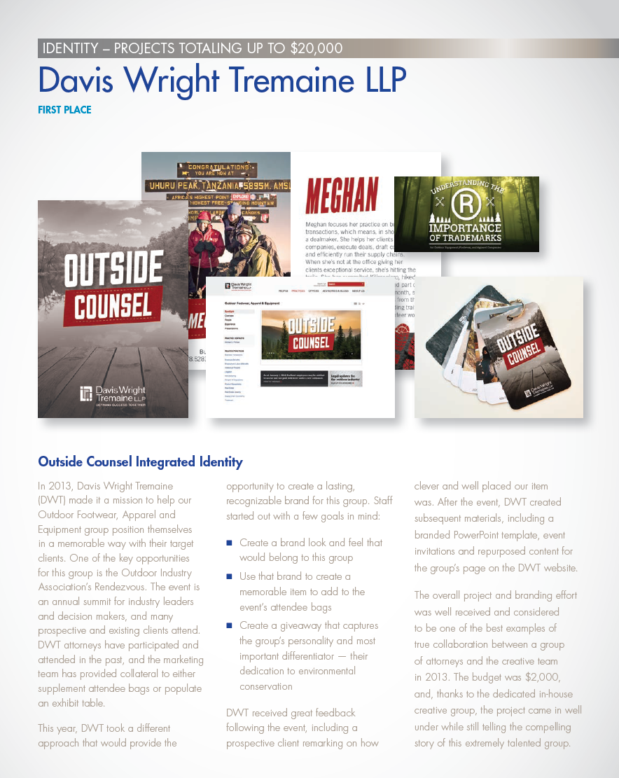 Outside Counsel Integrated Identity