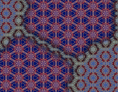 india textile inspired pattern panels
