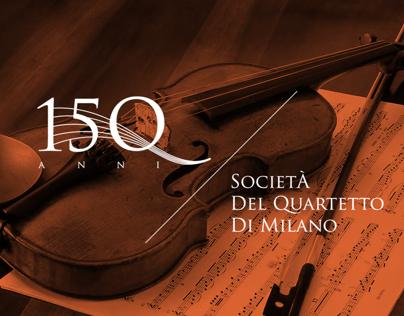 Quartetto di Milano - 150th Anniversary Logo