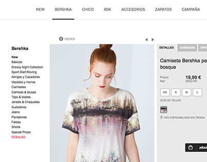 BERSHKA STRIPED T-SHIRTS
