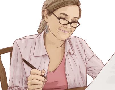 AARP Website Illustrations