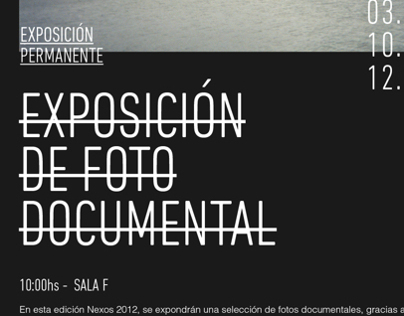 NEXOS - Exposición de Foto Documental