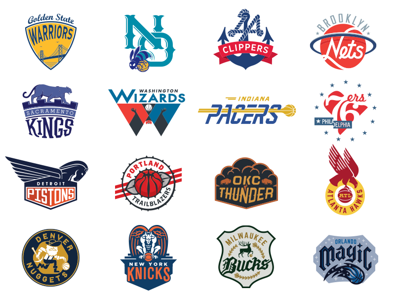 NBA Logo Redesigns