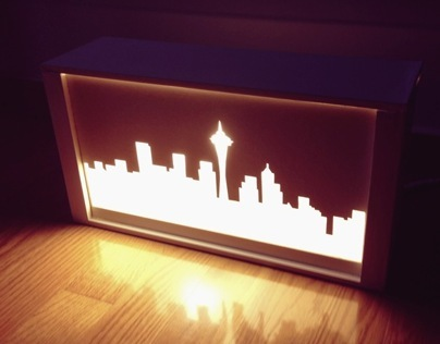 Seattle Skyline Lamp