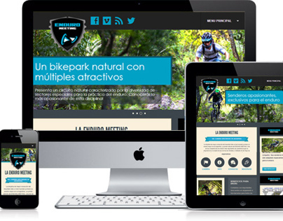 Responsive Web Design to Enduro Meeting Argentina