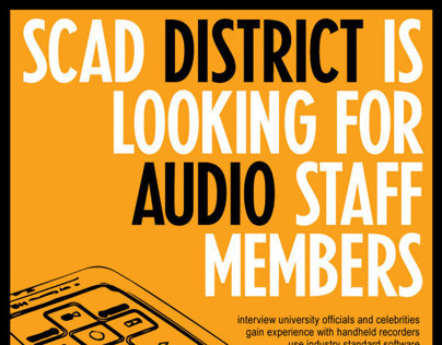 SCAD District Posters (Marketing Materials)