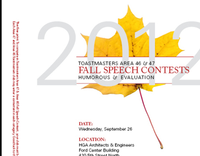 Toastmasters Speech Contest Flyers