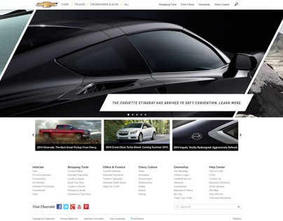 Chevrolet Homepage Redesign