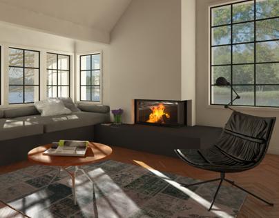 Corner Fireplace // Rüegg Cheminée #2