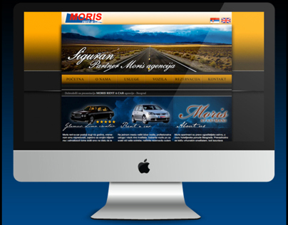 Moris Rent A Car - Web site