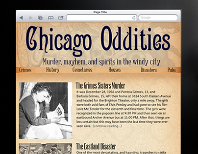 Chicago Oddities Responsive Site