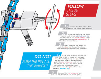 Bike Chain Removal Process Poster