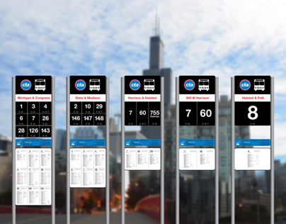 Chicago Transit Authority Bus Stop Signage Redesign