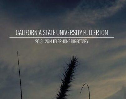 CSUF Telephone Directory