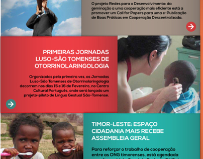 Mock ups for a NGO Website Layout