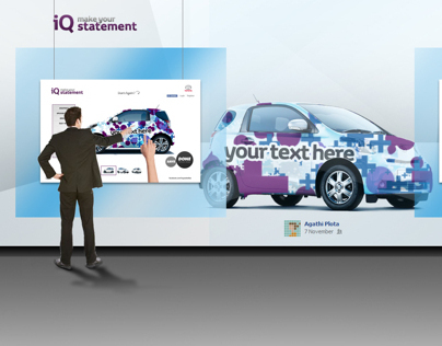 Toyota iQ. Interactive Store Display. 3D mapping.