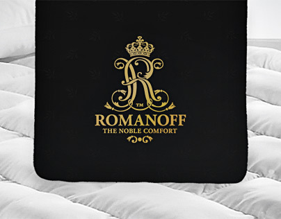 Romanoff brand identity - luxury bedding and mattresses