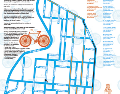UTexasLiving.com / University Co-op W. Campus Bike Map