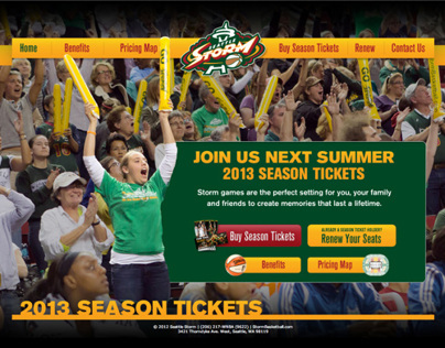 Seattle Storm: Season Ticket Site