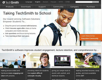 TechSmith Homepage designs